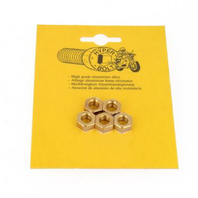 Opakowanie blistrowe 5 nakrętek sześciokątnych P40 OA, kolor złoty