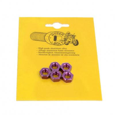 Opakowanie blistrowe 5 nakrętek sześciokątnych P40 OA, kolor fioletowy
